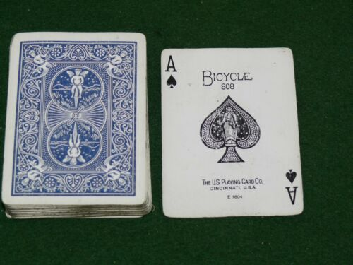 Vintage Collictable Poker Size 808 Bicycle Playing Cards ACE E 1604 PC202