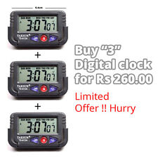 DIGITAL CLOCK, DIGITAL LCD ALARM TABLE DESK CAR CALENDAR CLOCKTIMER STOPWATCH