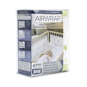 Airwrap-4-Sided-Printed-Breathable-Cot-Bumper-Alternative-Star-Green