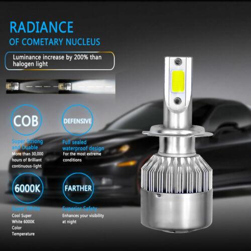 2X H7 LED FRONT HEADLIGHT HEADLAMP LIGHT BULBS HIGH POWER XENON BRIGHT PAIR