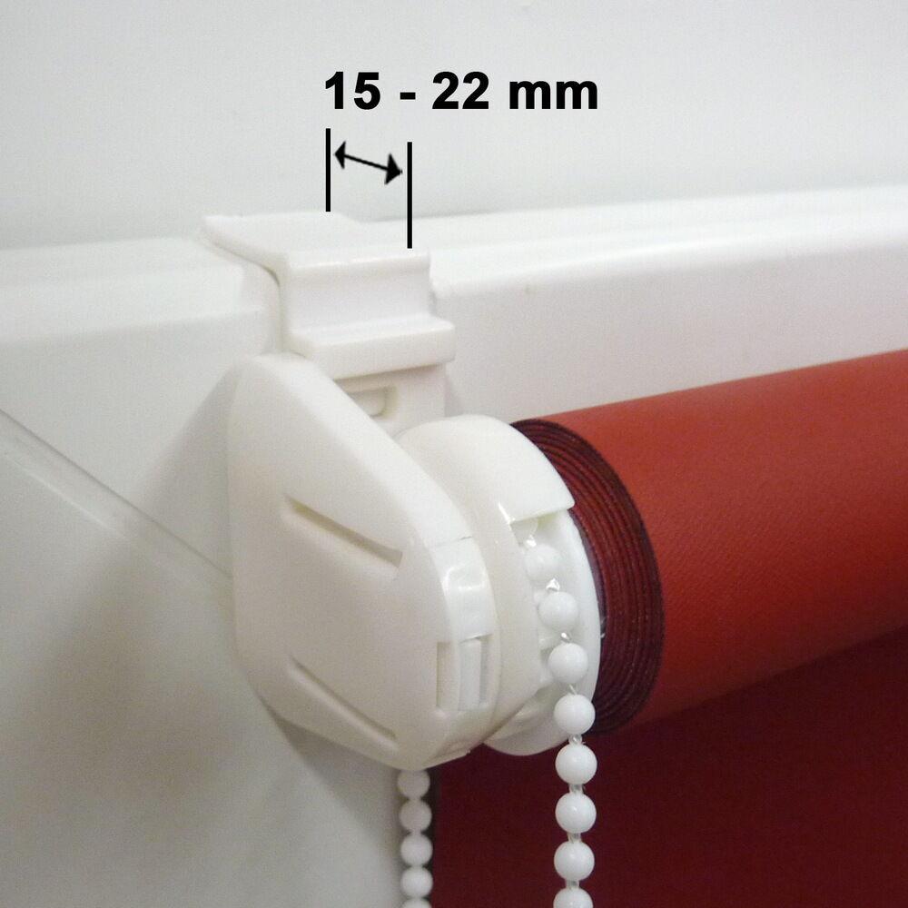 Minirollo Klemmfix THERMO Rollo Verdunkelungsrollo - - - Höhe 130 cm dunkelbraun aaaa95