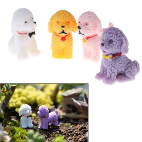 2 Pcs Fairy Figurines Resin Dog Microlandscape Trendy Home Bonsai Decor Pip GV