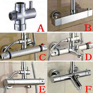 Image Is Loading Thermostatic Bar Mixer Shower Exposed Valve Tap Shower