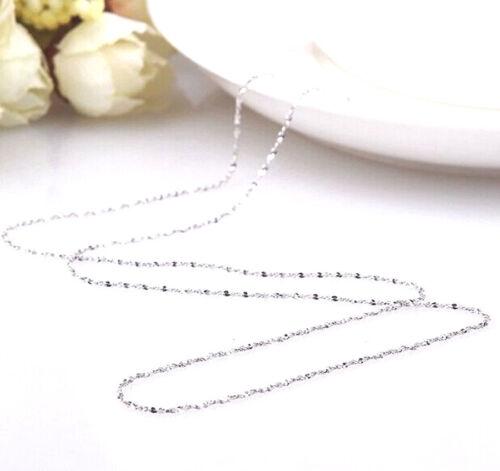 1PCS 16-30 in vente en gros bijoux lot 925 Silver Star Chaîne Collier Pour Pendentif