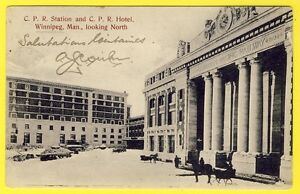 WINNIPEG-CPR-STATION-and-CPR-HOTEL-CANADIAN-PACIFIC-RAILWAY-Banque-d-039-Hochelaga