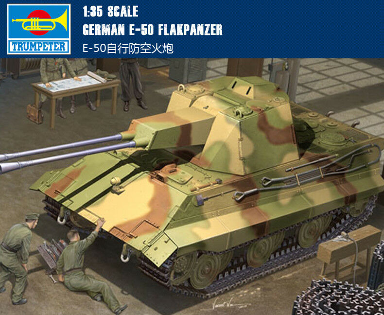 01537 Trumpeter 1 35 Model E-50 Flakanzer Self-propelled Antiaircraft Gun Tank