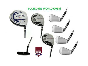 2cffd6efc45d Details about ALL SIZES! AGXGOLF MENS EXECUTIVE GOLF SET DRIVER+FW  WOOD+HYBRID+IRONS+PUTTER R