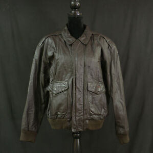 1573fead4 Details about American Born A-2 Leather Flight Jacket, Army Air-Force,  Men's Large