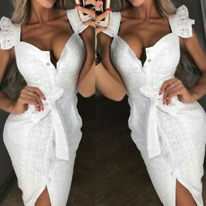 UK-Women-Long-Sleeve-Strapless-Lace-Bodycon-Party-Ladies-Casual-Short-Mini-Dress
