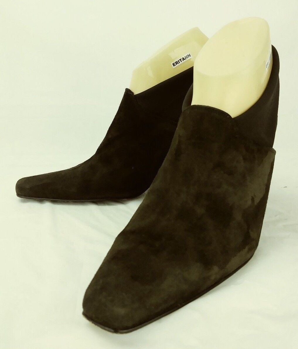 Donald J Pliner Wos shoes Slingbacks US 10 M Brown Suede Slip-on Heels 5187