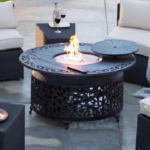 Sedona Cast Aluminum Lpg Round Fire Pit