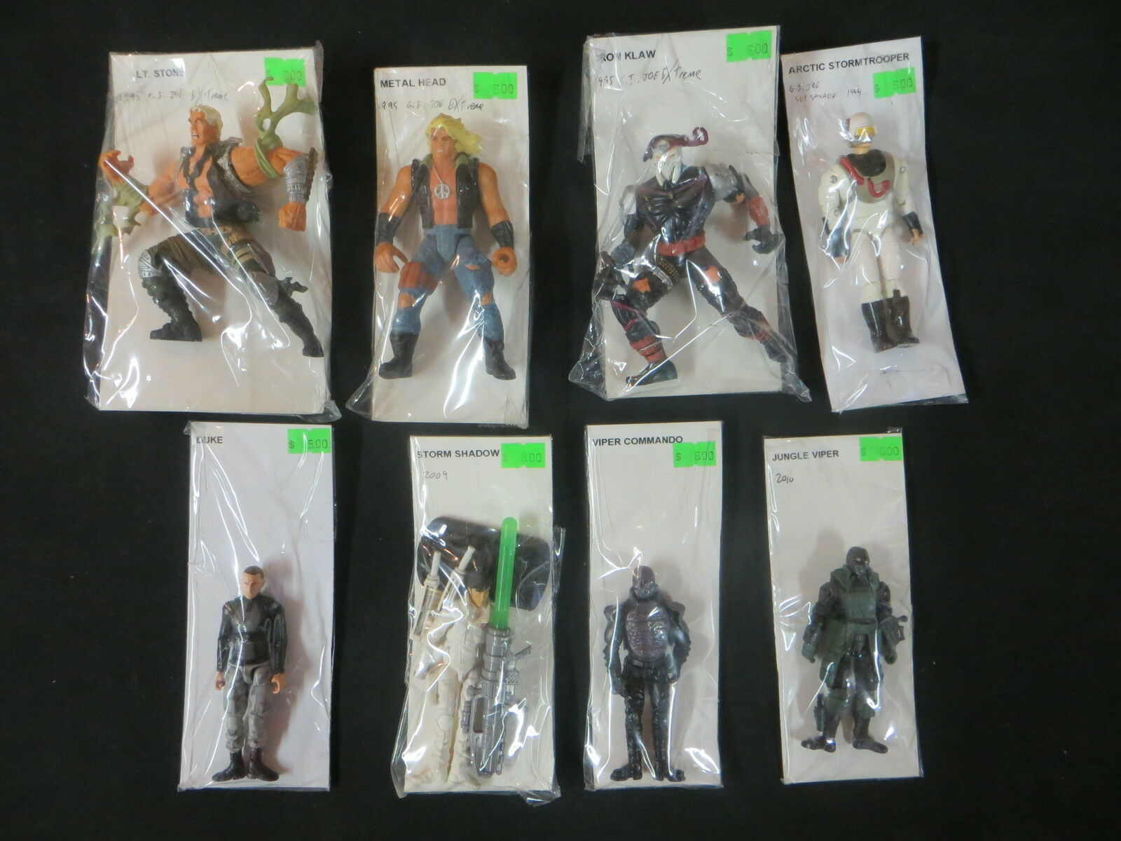 G.I. JOE LOT OF 8 ACTION FIGURE HASBRO COBRA LOT