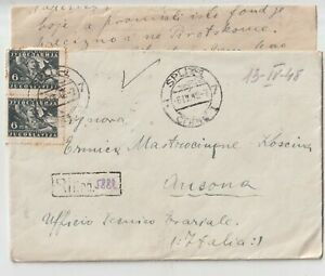 Yugoslavia 1948 Lettera Raccomandata Da Split Spalato X Ancona