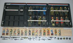 Lot-Complete-Set-1982-GI-Joe-Cobra-Straight-Arm-v1-Figures-Accessories-File-Card