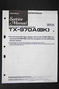 pioneer tx-970a (bk) tuner original additional service manual ...  ebay