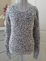 I Jeans By Buffalo Valerie Ladies Knit Sweater Shiny Oyster Combo Sz.s $55