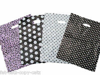 SPOTTED PINK ANIMAL PRINT FASHION SHOP MARKET CARRIER BAGS 40+PER PACK 4 DESIGNS