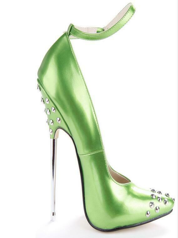 Europe Runway Women Heels shoes Sexy Party Party Party Rivet Spike Pumps Slip on Ankle Strap 75c63a
