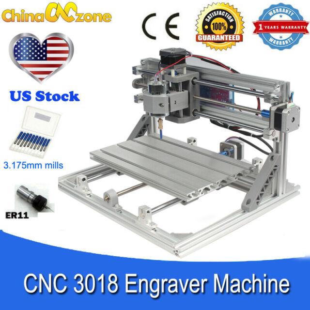 3018 Mini CNC Engraving Machine Metalworking Router Carving DIY Milling Machine