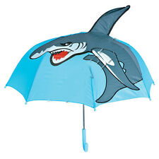 Shark Child UMBRELLA Cute Colorful Kids Rain Gear 28 inch in diameter FREE SHIP