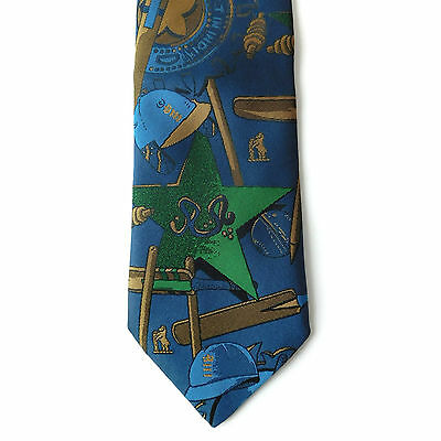 Cricket tie England v India Pakistan Edgbaston 1996 vintage 1990s sport UNUSED