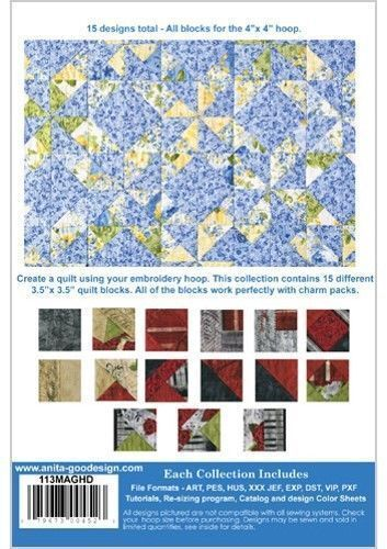 Buy Charm Pack Quilt Blocks Anita Goodesign Embroidery Design Cd