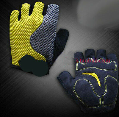 Yellow Practical Professional Cycling Bike Bicycle Half Finger Glove S//M//L//XL