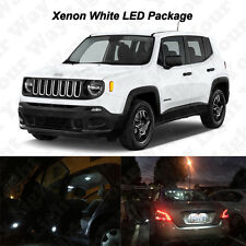 11 X White Led Interior Bulbs License Plate Lights For 2015 2017 Jeep Renegade