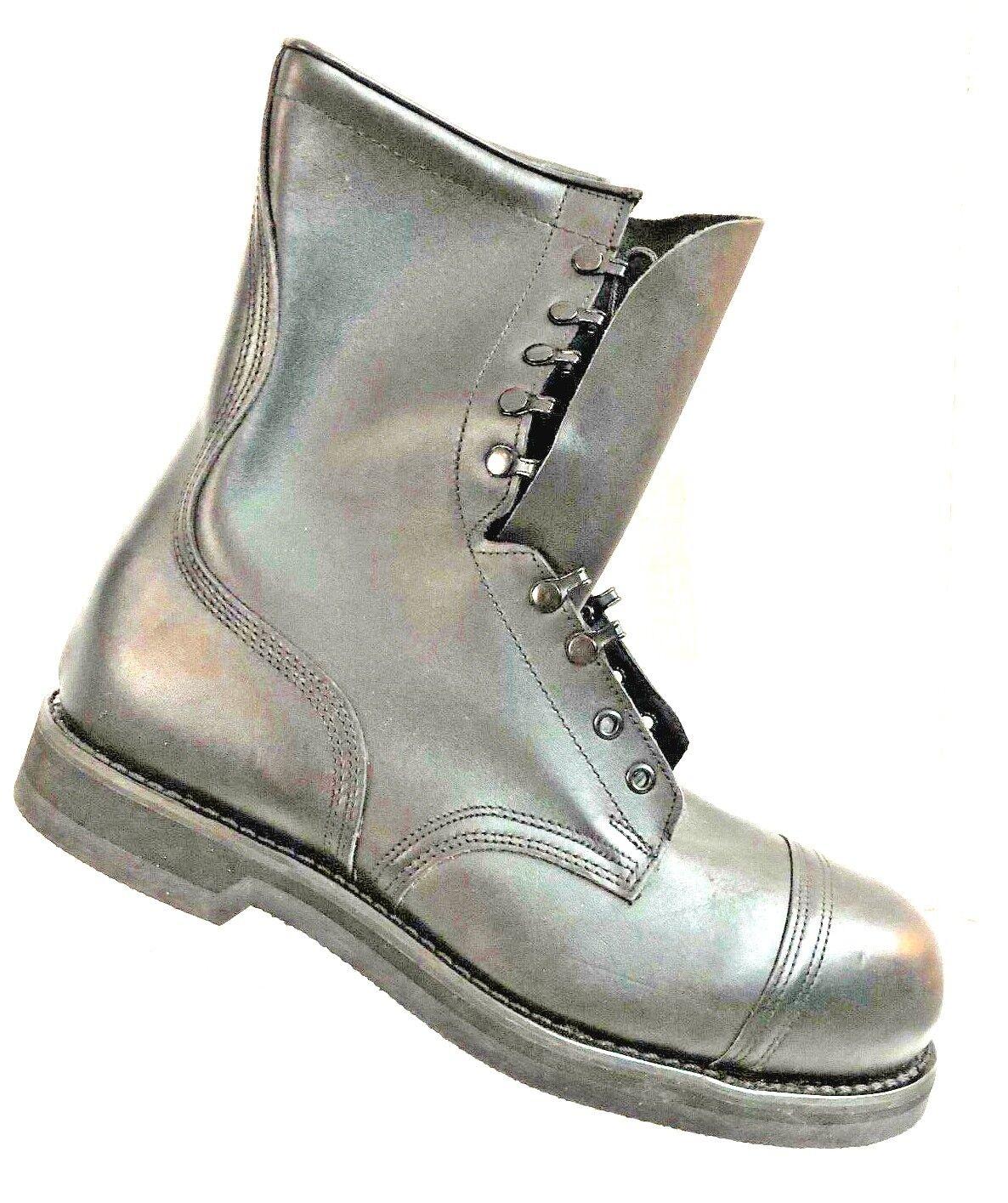 Addison zapatos Company Negro para Hombre De Combate Militar botas Zapato W Nuevo con etiquetas