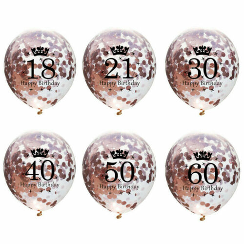 Rose Gold Happy Birthday Bunting Balloons 18//21st//30//40//50//60 Party baloon De UK