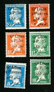 Lebanon-Stamps-39-44-VF-OG-LH