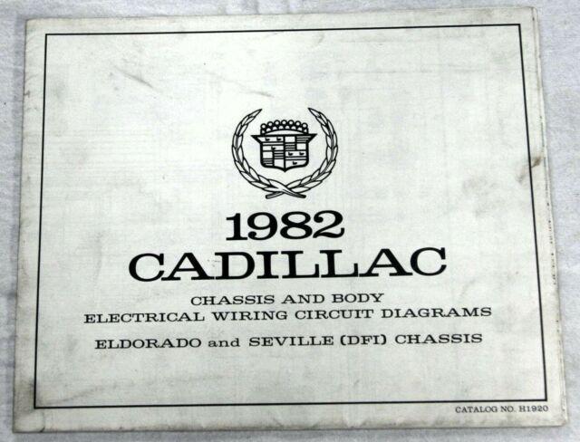 1982 Cadillac Eldorado  U0026 Seville  Dfi  Chassis Foldout