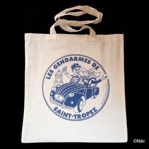 Tote-Bag-sac-coton-shopping-etudiant-Les-gendarmes-de-Saint-Tropez-porte-epaule