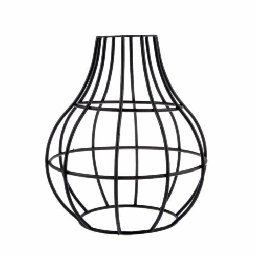 Vintage Vase Shape Wire Cage Black Ceiling Light  Lampshade Metal Fitting