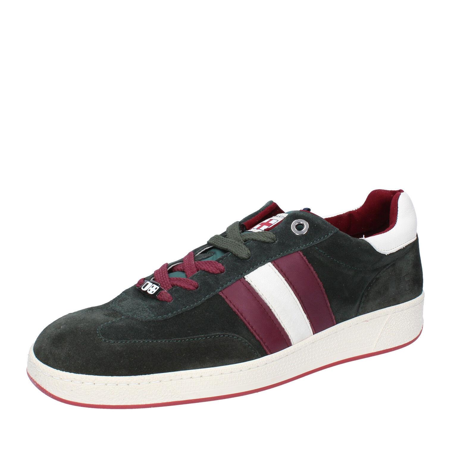 Herren schuhe D' ACQUASPARTA 44 EU sneakers grün wildleder AB870-G