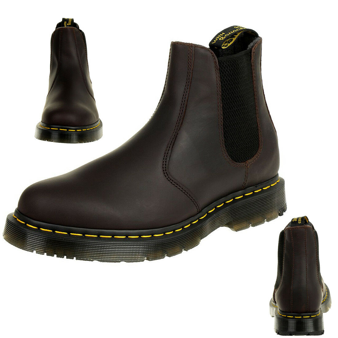 Dr. Martens señores snowplow WP cocoa 2976 chelsea botas Leather marrón 24042247