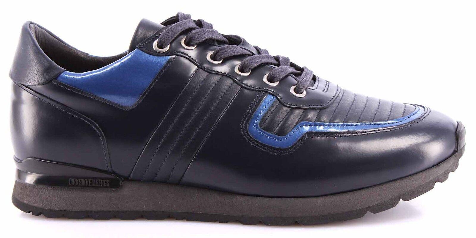 Scarpe Uomo Sneakers BIKKEMBERGS BKE 108231 Mant 380 LShoe M Leather Brushed Blu