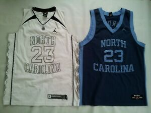 pretty nice 30bc1 6116b Details about 2 VINTAGE NIKE JORDAN NORTH CAROLINA 23 MICHAEL JORDAN  JERSEY'S BOTH IN SIZE M