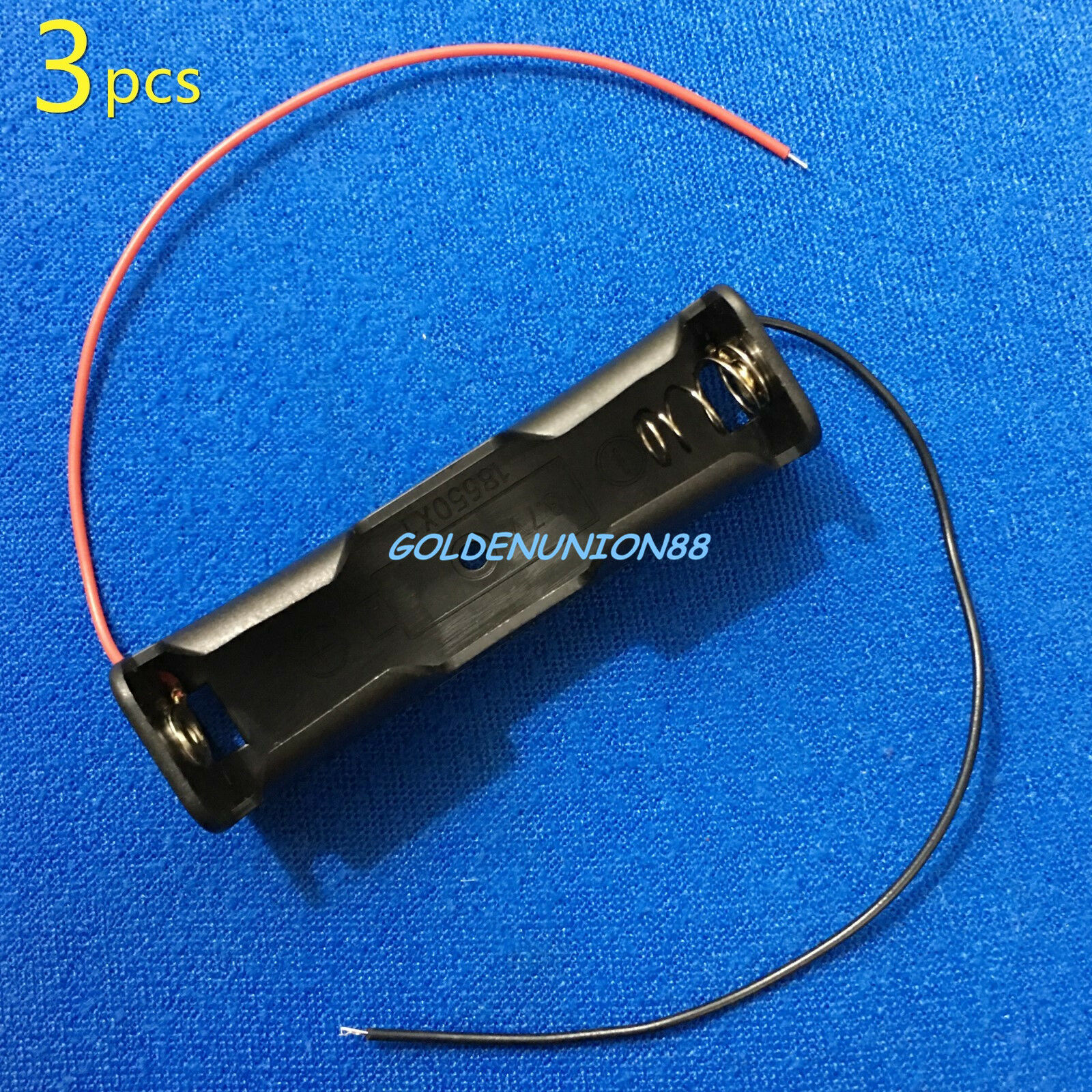 3pc one slot 1S18650 clip plastic connector holder case junction box