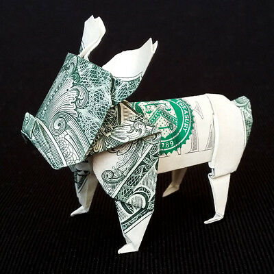 Paper Elephant Origami Of One Dollar Isolated Stock Photo, Picture ... | 400x400