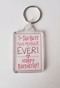 Image Is Loading Happy Birthday Godmother Keyring Gift Present Keepsake