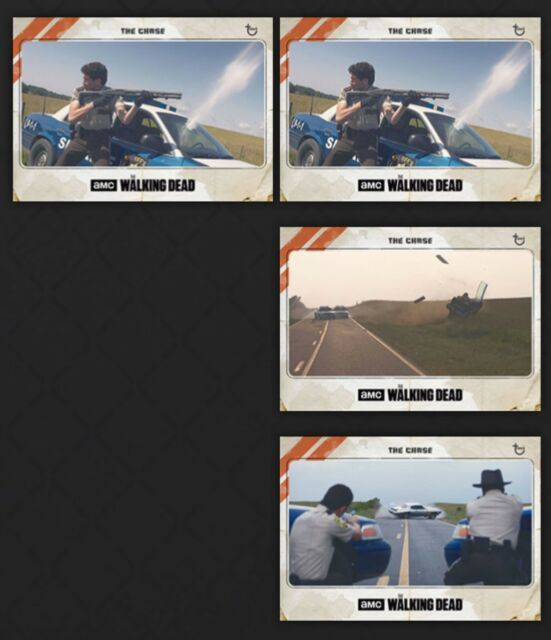 Topps Walking Dead Card Trader Digital The Chase 4 Pack Insert Lot