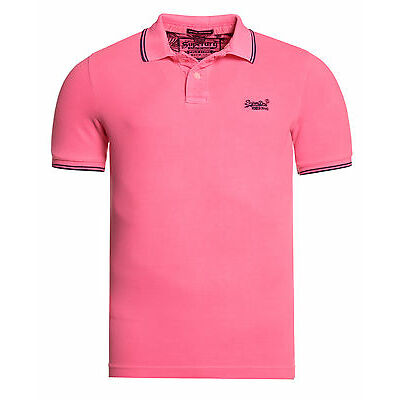 Superdry Polo vintage destroyed aloha Pour homme Echo Rose