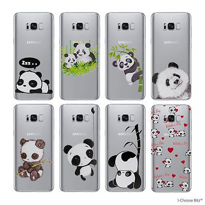 best service 815fc 83adb Cute Panda Case/Cover Samsung Galaxy S7 Edge G935 / Screen Protector /  Silicone | eBay