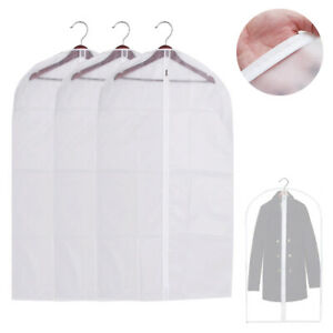 "3 Garment Bag Travel Suit Dress Storage 53"" Clear Cover Full Zipper Coat Carrier"