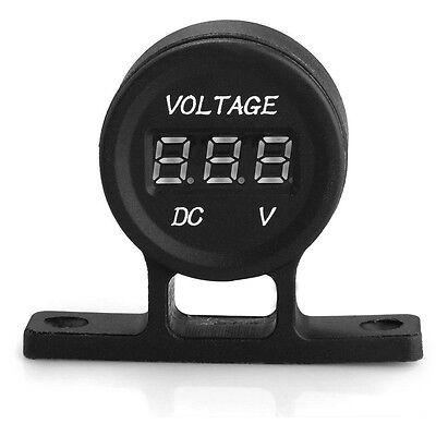 12V Universal Car Truck LED Voltmeter Voltage Volt Meter Gauge Black