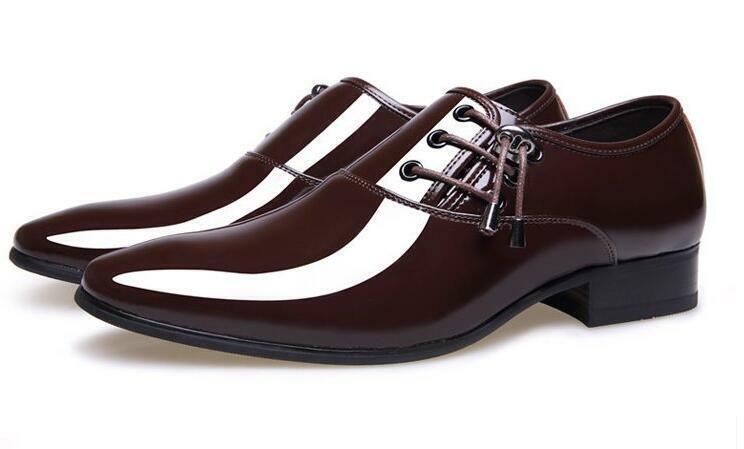 Block Heel Oxfords Lace Up Dress Formal shoes Mens Dress Oxfords Us Sz 7-10