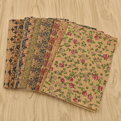 A4 Vintage Soft Cork Synthetic Leather Fabric Sheet Diy