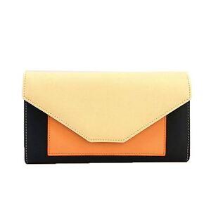 New-Edie-PU-Purse-Envelop-Colour-Block-Flap-Over-Basic-Wallet-Casual-Card-Slot