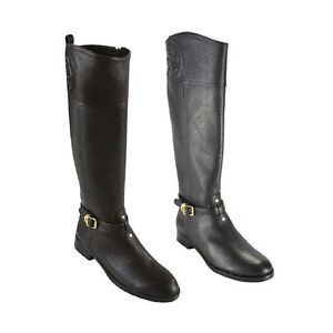 d5ed382ab973 NEW  495 TORY BURCH MARLENE RIDING BOOTS Black or Coconut Size 6